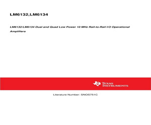 LM6132BIM/NOPB.pdf